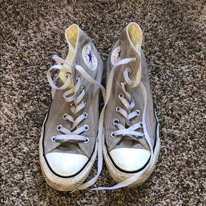 Taupe high top Converse